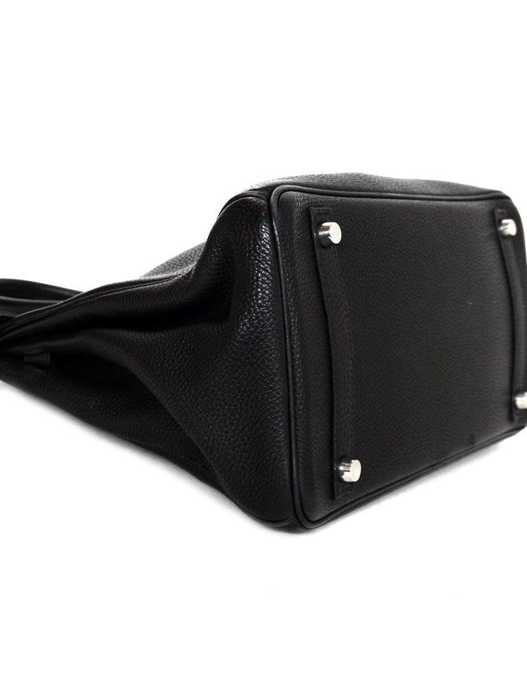 Hermes Black Togo Leather 30CM Birkin Bag w. Palladium/Silvertone Hardware 2