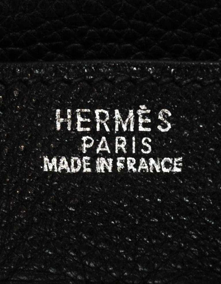 Hermes Black Togo Leather 30CM Birkin Bag w. Palladium/Silvertone Hardware 5