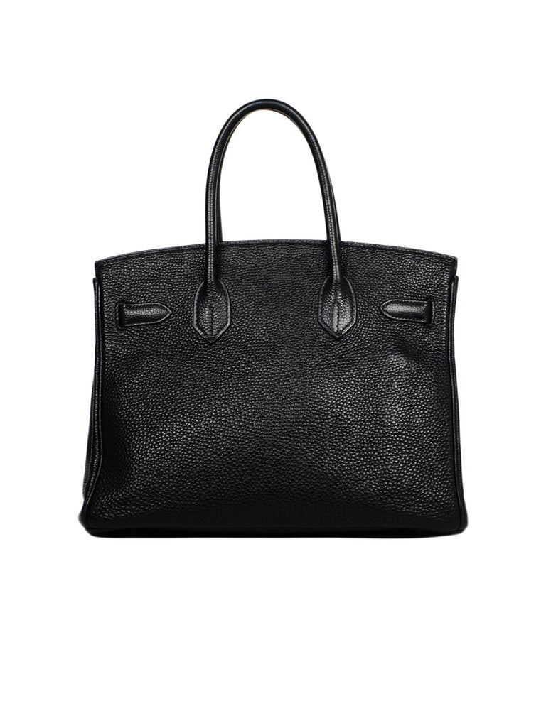 Hermes Black Togo Leather 30cm Birkin Bag W/ PHW In Excellent Condition In New York, NY