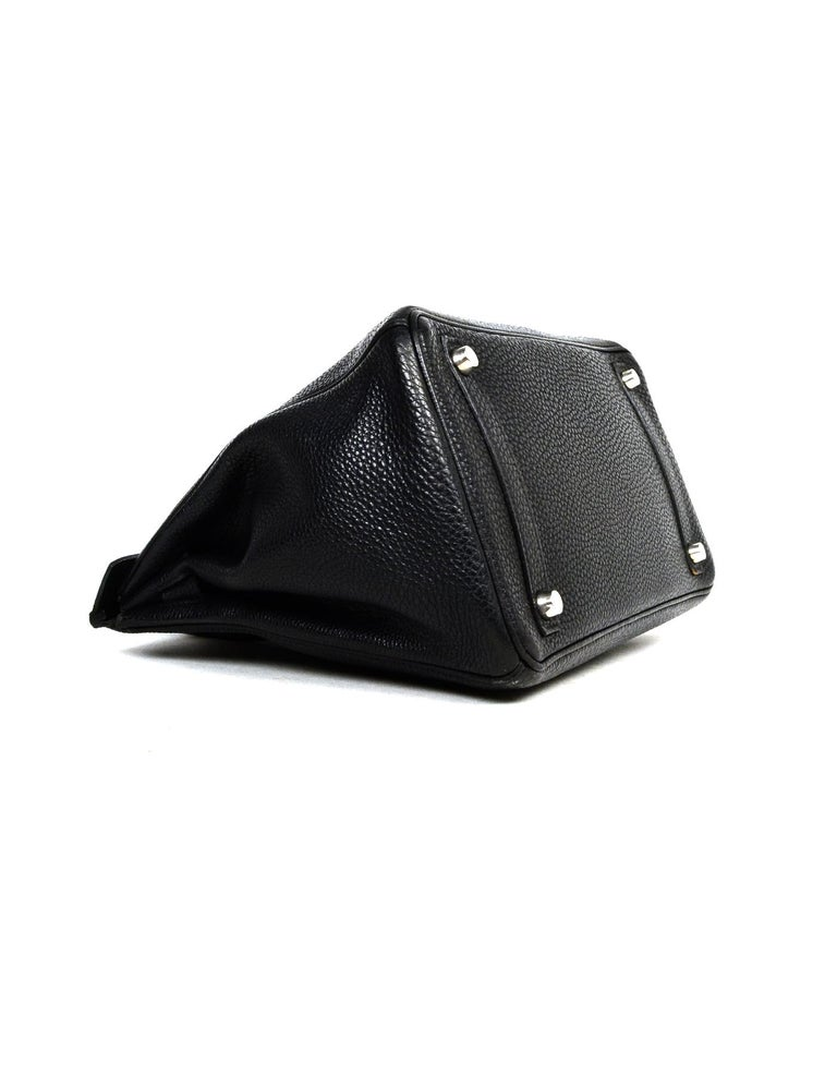 Women's Hermes Black Togo Leather 30cm Birkin Bag W/ PHW