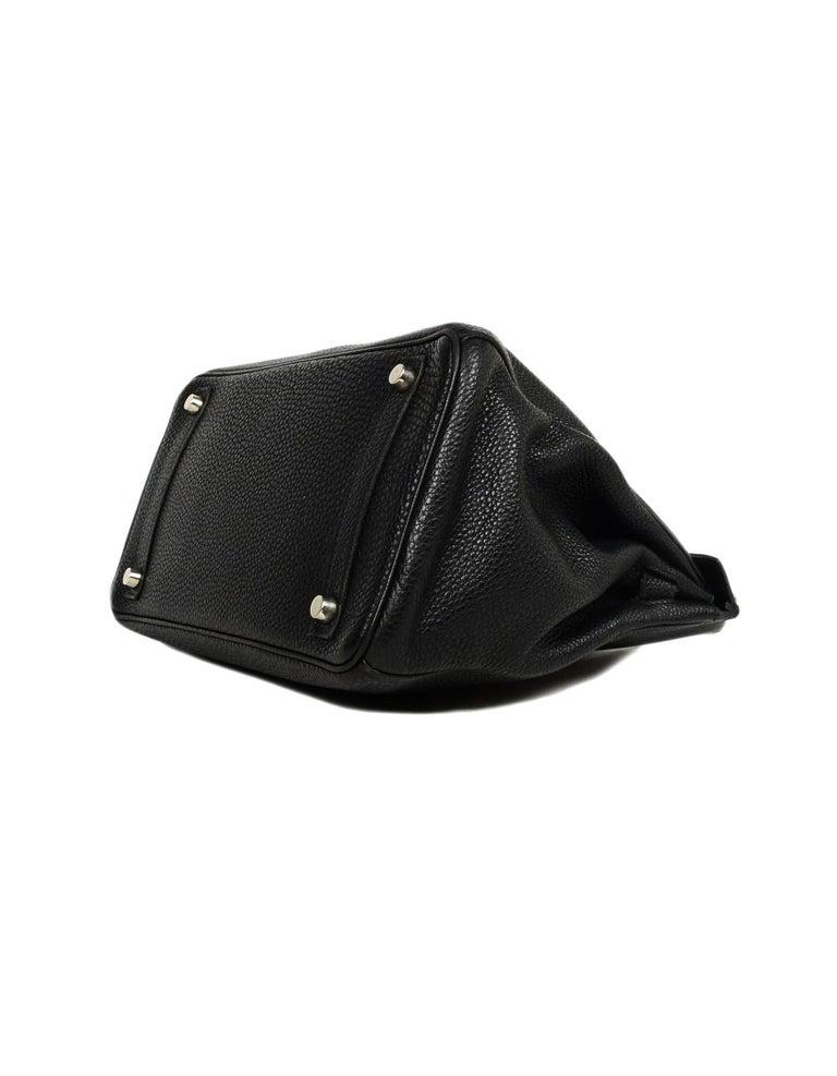 Hermes Black Togo Leather 30cm Birkin Bag W/ PHW 1