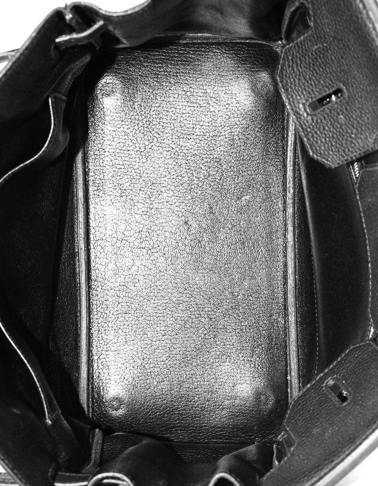 Hermes Black Togo Leather 30cm Birkin Bag W/ PHW 2