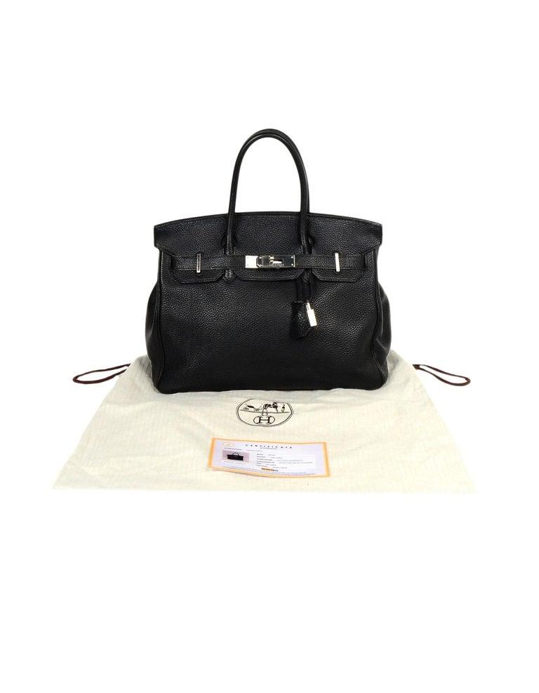 Hermes Black Togo Leather 30cm Birkin Bag W/ PHW 5
