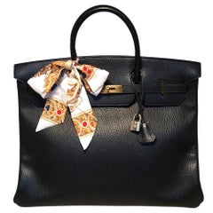 Hermes Black Togo Leather 40cm Birkin Bag GHW