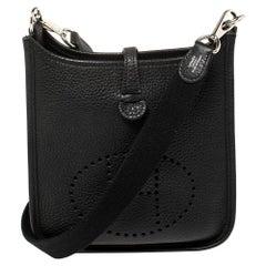 Hermes Black Togo Leather Evelyne TPM Bag