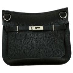 Hermes Black Togo Leather Jypsiere 28 Bag
