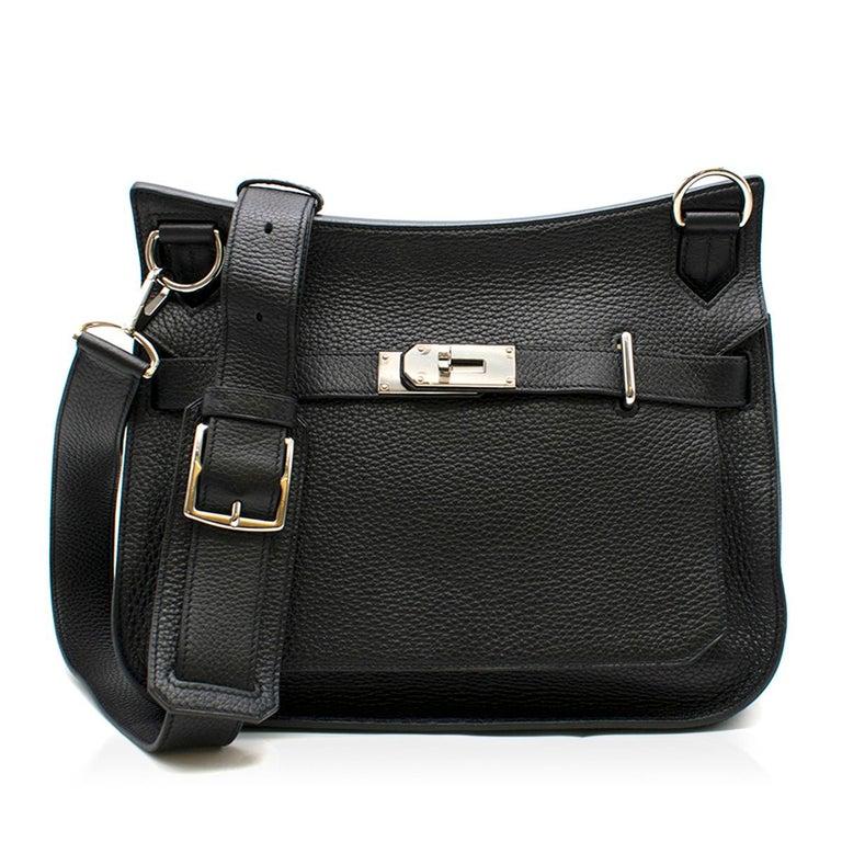 78a10ceced Hermes Jypsiere Black Togo Shoulder Bag Made in France. - Serial Number   R