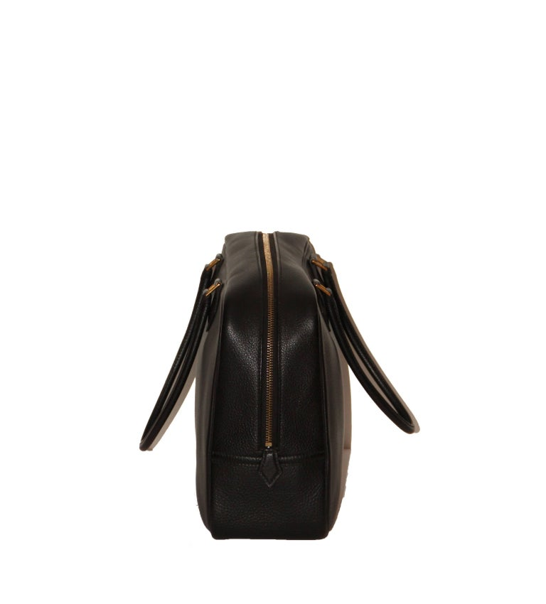Hermes Black Togo Leather Plume 32 In Excellent Condition For Sale In Geneva, CH