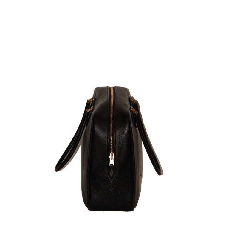Women's or Men's Hermes Black Togo Leather Plume 32 For Sale