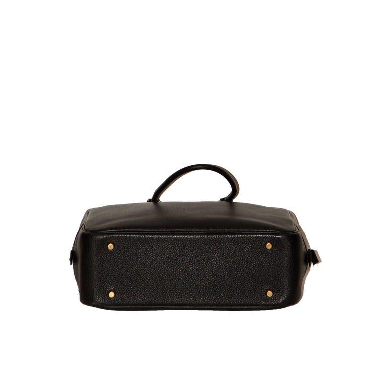 Hermes Black Togo Leather Plume 32 For Sale 1
