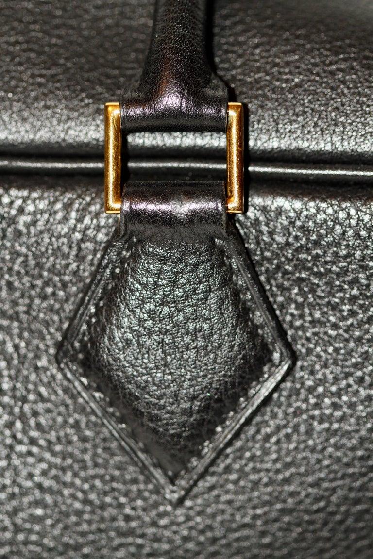 Hermes Black Togo Leather Plume 32 For Sale 2