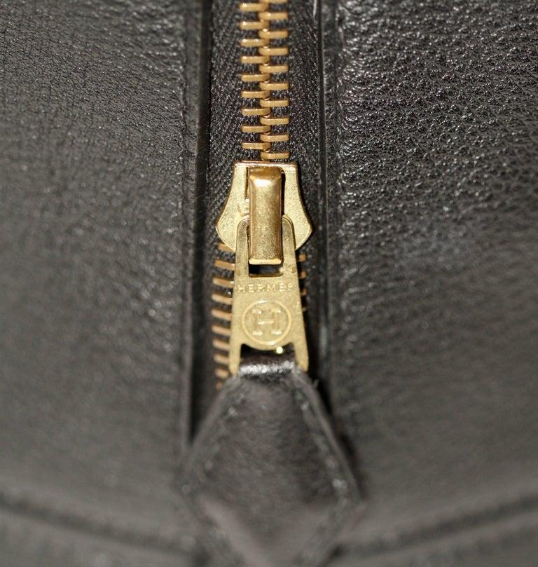 Hermes Black Togo Leather Plume 32 For Sale 3