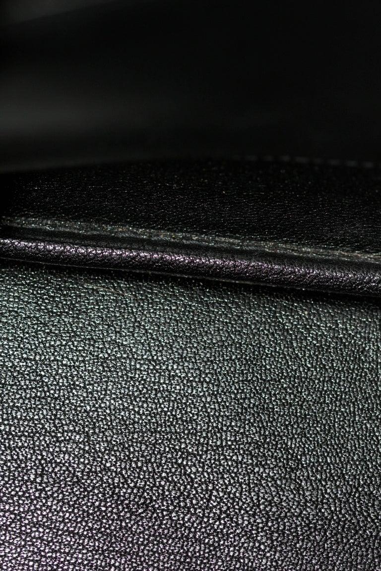 Hermes Black Togo Leather Plume 32 For Sale 5