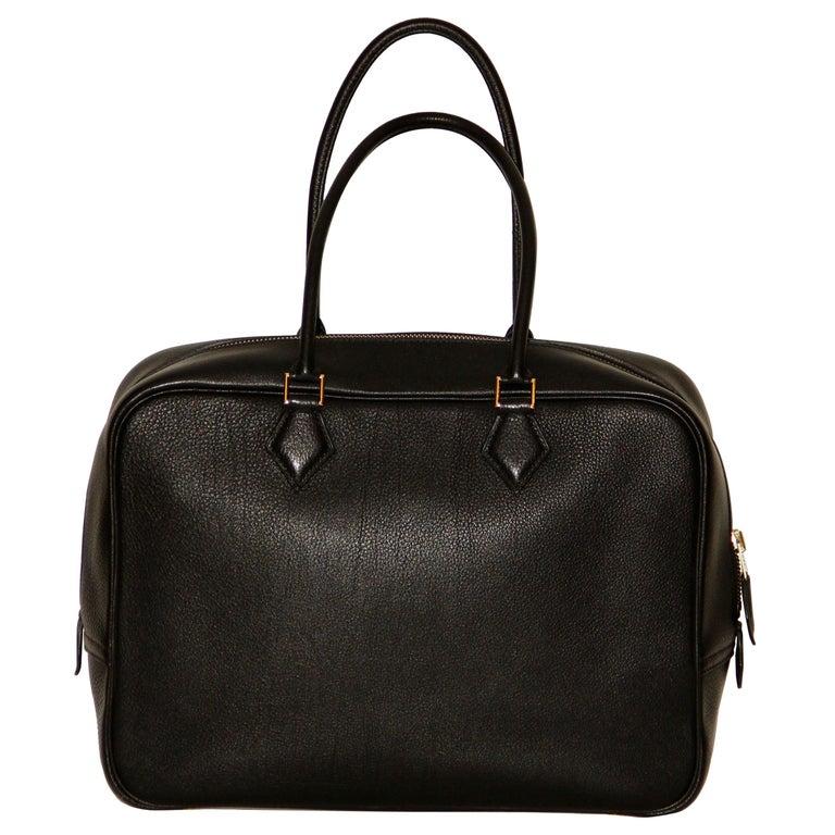 Hermes Black Togo Leather Plume 32 For Sale