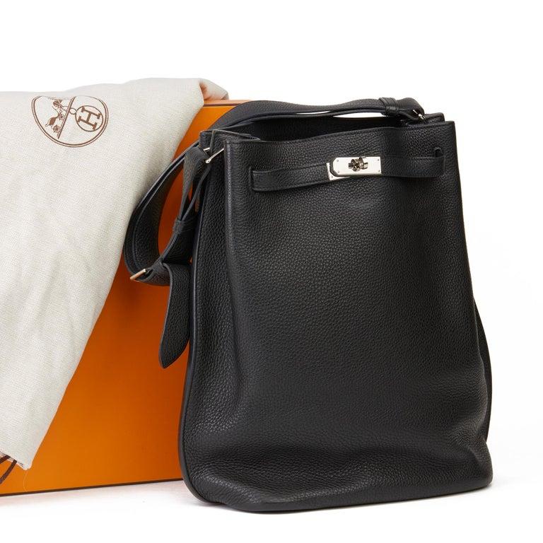 Hermès Black Togo Leather So Kelly 26cm For Sale 7