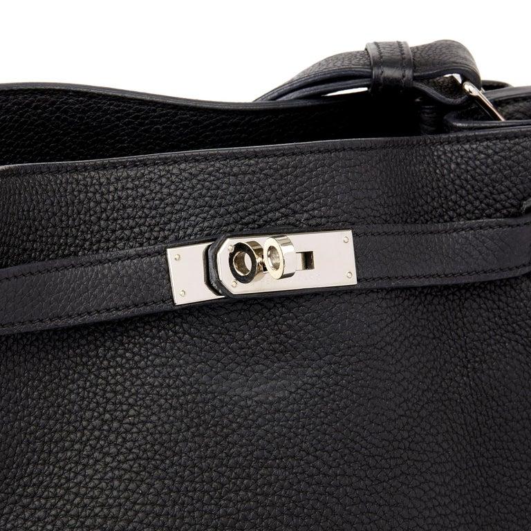 Hermès Black Togo Leather So Kelly 26cm For Sale 2