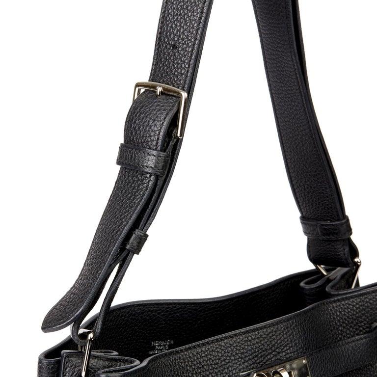 Hermès Black Togo Leather So Kelly 26cm For Sale 3