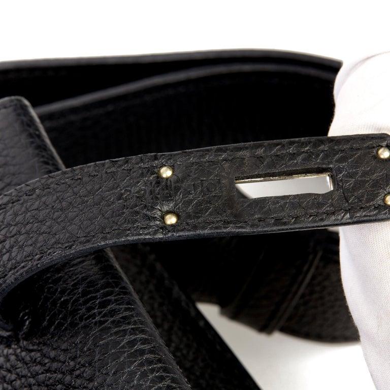 Hermès Black Togo Leather So Kelly 26cm For Sale 5