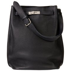 Hermès Black Togo Leather So Kelly 26cm