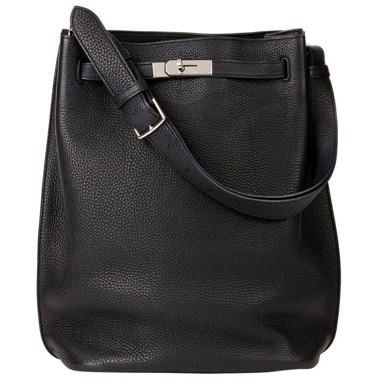 Hermès Black Togo Leather So Kelly 26cm For Sale
