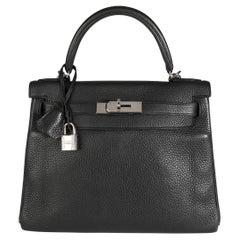 Hermès Black Togo Retourne Kelly 28 PHW