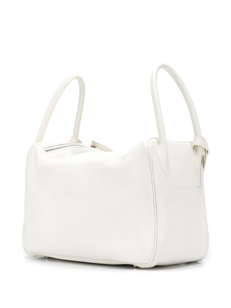 Hermes Blanc White 34cm Lindy Bag In Excellent Condition For Sale In London, GB