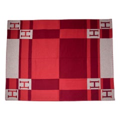 Hermes Blanket Avalon Bayadere Rouge Throw Blanket New w/ Box