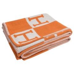 Hermes Blanket Avalon I Signature Potiron Throw Blanket