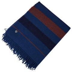 Hermes Blanket Rocabar Blue Hermes Sellier Clou de Selle New