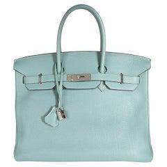 Hermès Bleu Ciel Togo Birkin 35 PHW