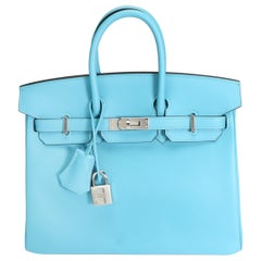 Hermès Bleu Du Nord Swift Leather Birkin 25 with Palladium Hardware