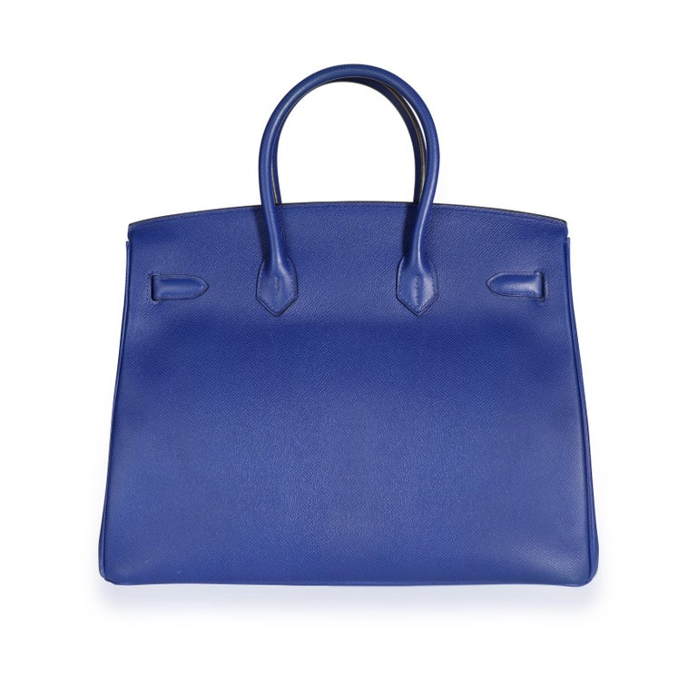 Hermès Bleu Électrique Epsom Birkin 35 PHW In Good Condition For Sale In New York, NY