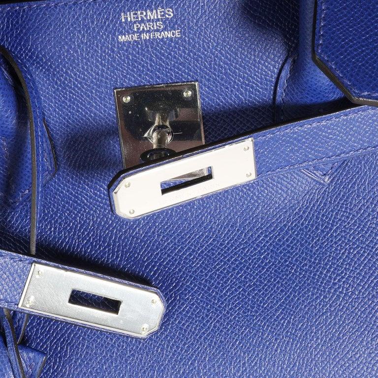 Women's Hermès Bleu Électrique Epsom Birkin 35 PHW For Sale