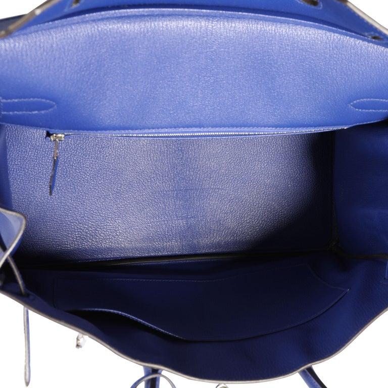 Hermès Bleu Électrique Epsom Birkin 35 PHW For Sale 1
