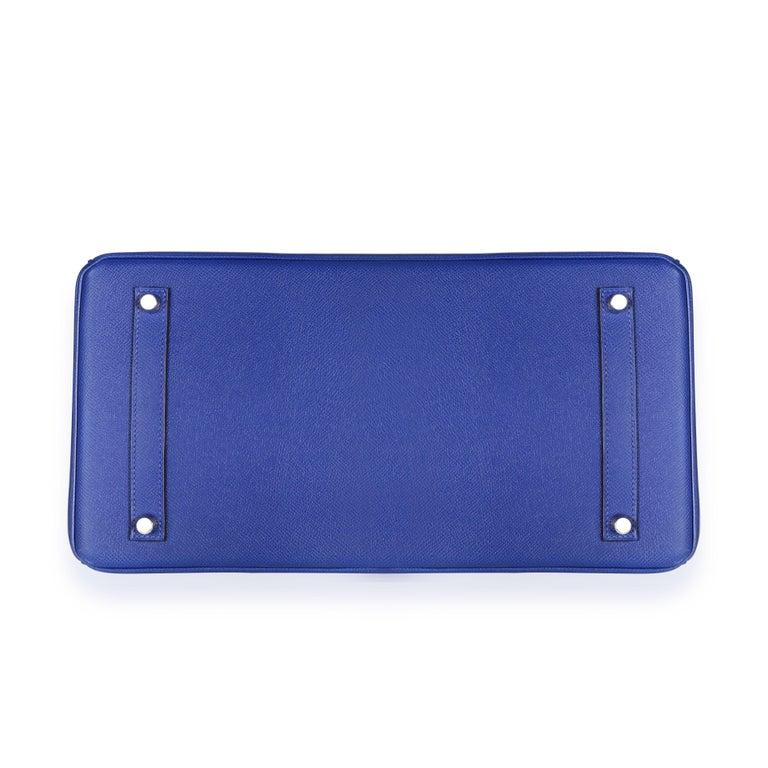 Hermès Bleu Électrique Epsom Birkin 35 PHW For Sale 2