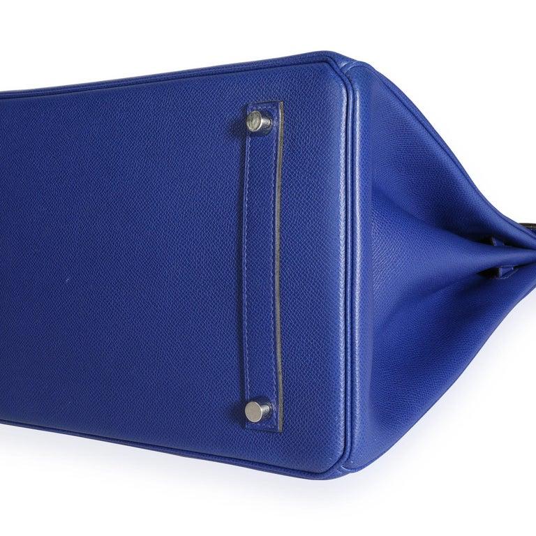 Hermès Bleu Électrique Epsom Birkin 35 PHW For Sale 4