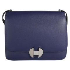Hermès Bleu Encre Evercolor 2002 26 Bag PHW