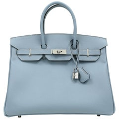 Hermès Bleu Lin Epsom 35 cm Birkin Bag