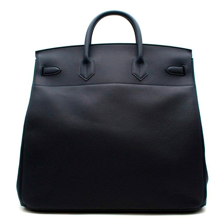 Hermes Bleu Nuit Birkin HAC 40 in Togo Leather PHW In New Condition For Sale In London, GB