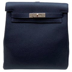 Hermès Bleu Nuit Clémence Leather Kelly Ado II Backpack