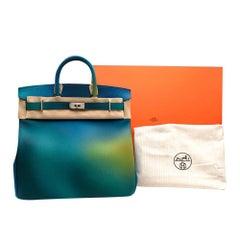 Hermes Bleu Nuit & Jaune De Naples Cosmos Togo Birkin HAC 40 BPHW