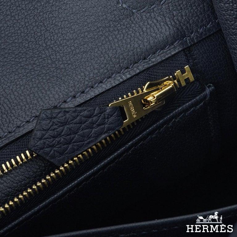 Hermès Bleu Nuit Togo Birkin 25cm Gold Hardware For Sale 1