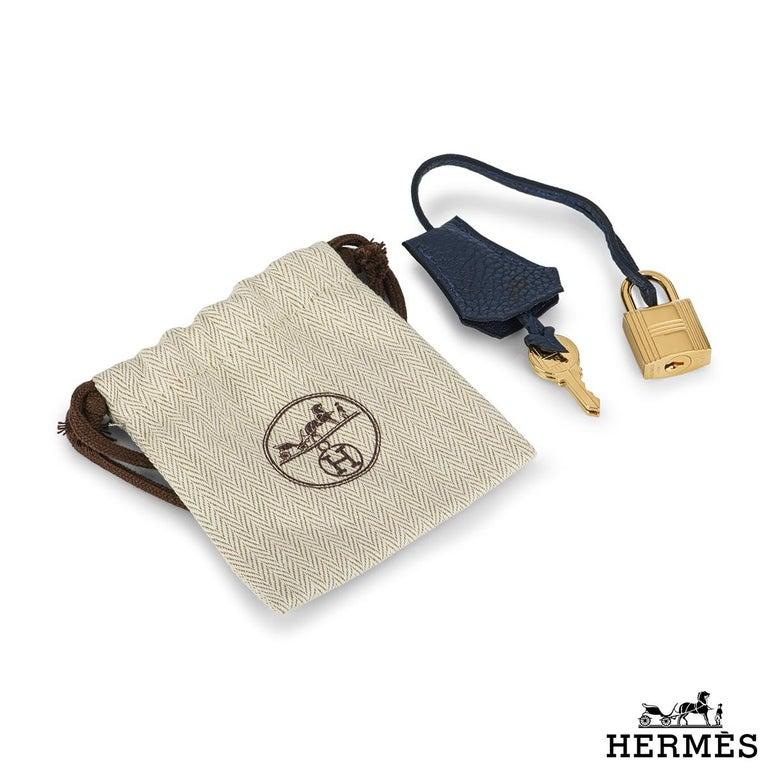 Hermès Bleu Nuit Togo Birkin 25cm Gold Hardware For Sale 3