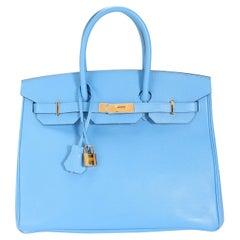 Hermès Bleu Paradise Epsom Birkin 35 GHW