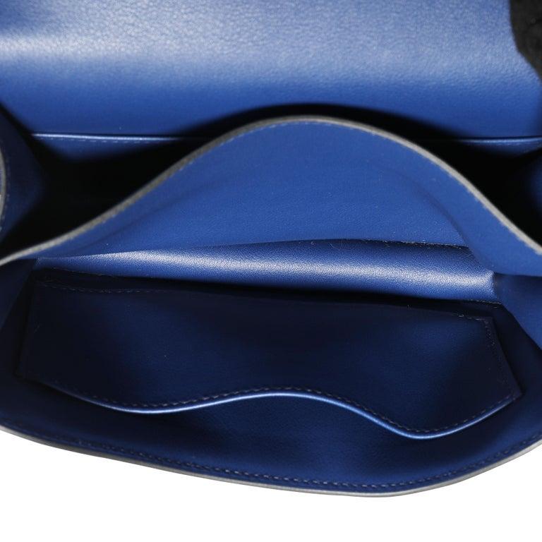 Purple Hermès Bleu Saphir Swift Constance 18 PHW For Sale