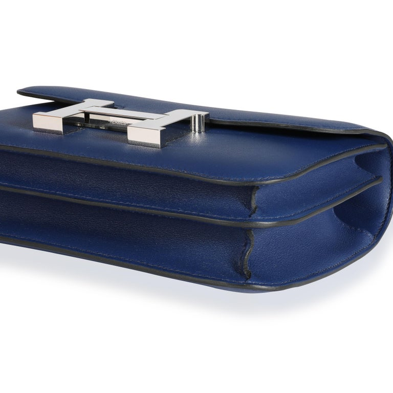 Hermès Bleu Saphir Swift Constance 18 PHW In Good Condition For Sale In New York, NY