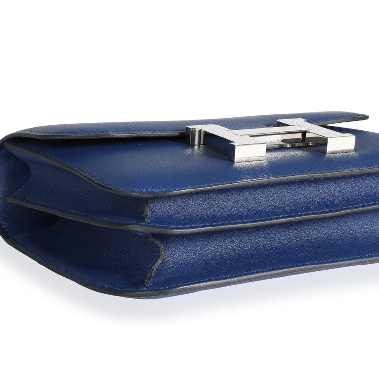 Women's Hermès Bleu Saphir Swift Constance 18 PHW For Sale