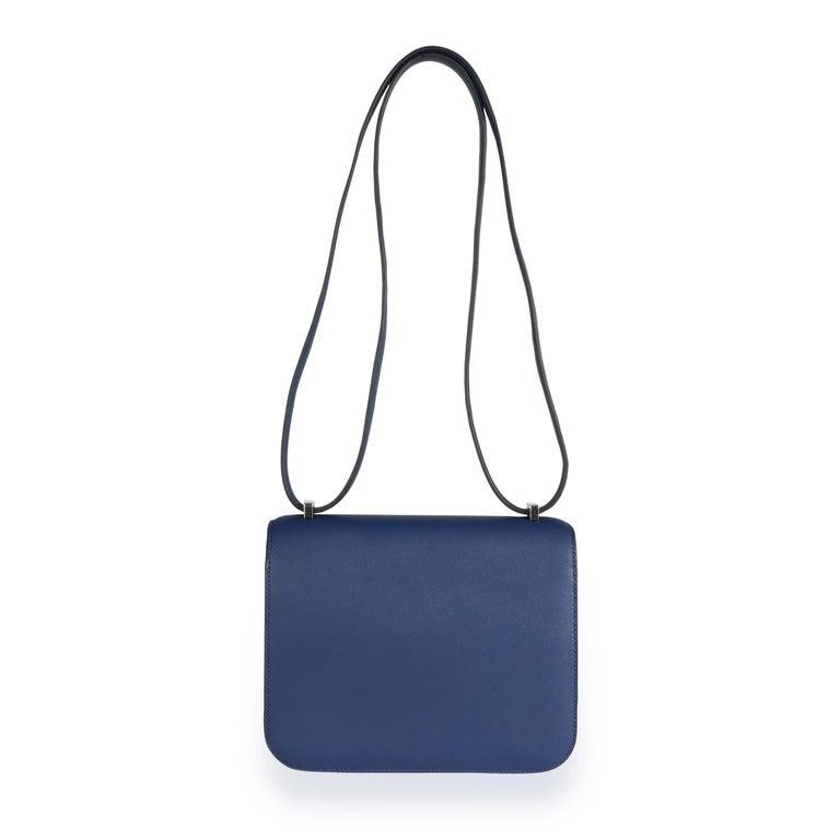 Hermès Bleu Saphir Swift Constance 18 PHW For Sale 1