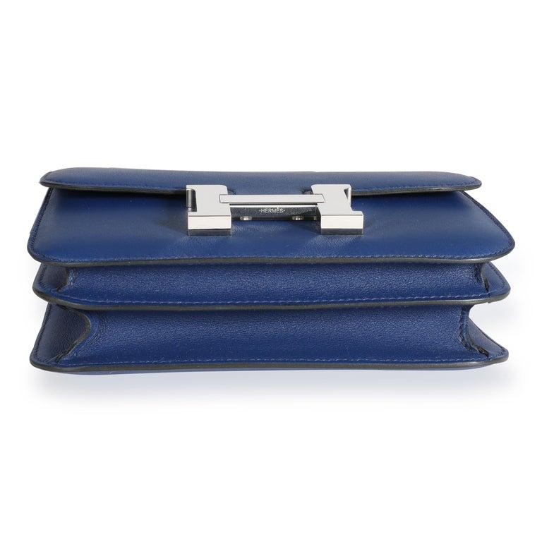Hermès Bleu Saphir Swift Constance 18 PHW For Sale 2