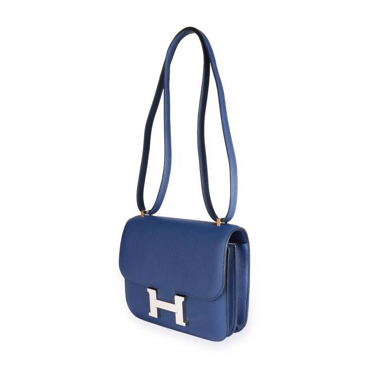 Hermès Bleu Saphir Swift Constance 18 PHW For Sale 3